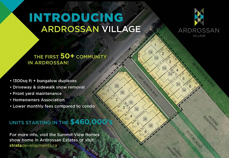 Ardrossan Village - Launch Postcard